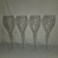 """Vintage Fluted Champagne Glasses Set of 4 Wedding Anniversary 8 3/4"""" Tall"""
