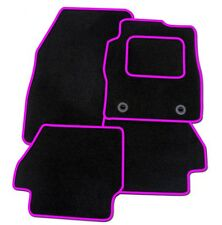 RENAULT SCENIC 2009 ONWARDS TAILORED BLACK CAR MATS WITH PINK TRIM