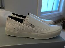 Robert Clergerie $550  Womens White Leather Loafers Shoes 9 Medium B