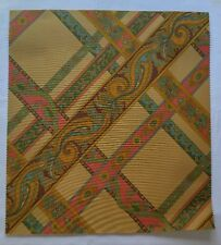 "Fabric Sample Brunschwig Fils Campin 16"" X 17.5"" Geometric Paisley Brown Tan"