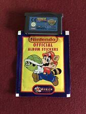 Sonic Advance + Pinball Nintendo Gameboy + 1 Paquet De Stickers Nintendo Advance