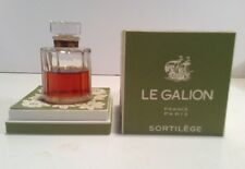 Vintage Sortilege Perfume 1 oz Le Galion Green Box 2/3 Full Original Version