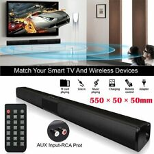 Wireless Bluetooth Home TV Soundbar 4 Speakers 3D Sound Bar Theater Subwoofer US