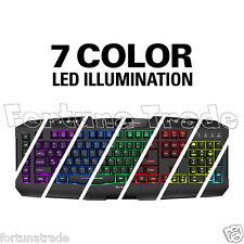 QWERTZ Tastatur Sharkoon Skiller PRO+ (Plus) beleuchtung 7 Farben LED Gamer DE