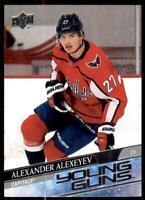 2020-21 UD Series 1 Base Young Guns #203 Alexander Alexeyev RC