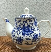 Chinese blue and white porcelain teapot handmade ceramic large capacity 1000ML