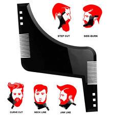 Men Beard Shaping Styling Template ruler Appearance Moustache moulding Plastic