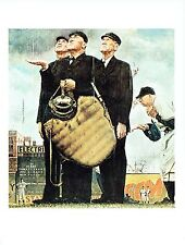 "NORMAN ROCKWELL ""BOTTOM OF THE SIXTH"" Baseball Color 11.5""x 15"" Poster Print"