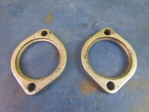 EXHAUST PIPE CYLINDER HEAD MOUNT FLANGES HARLEY DAVIDSON B.T. 1984-99 65328-83