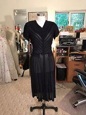 Vintage 1940's Sheer Black Dress / Goth Extreme