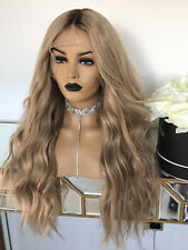 Full Lace Human Hair Wigs Medium Blonde Glueless Lace Front Wigs With Baby Hair