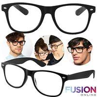 READING GLASSES 1.0 - 3.0 UNISEX MENS LADIES TRENDY DESIGNER WAYFARER BLACK UK