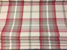 PORTER AND STONE CRANBERRY TARTAN ROMAN BLACKOUT LINED BLIND MADE TO MEASURE.