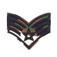 Sergeant Stripes Camouflage Embroidered Iron Sew On Patch U.S. Army Epaulettes