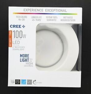 Cree Recessed Downlight 6 in.100W Dimmable Soft White LED Retrofit Trim Light