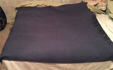 Fairbo Wool Blend Blue Stadium Throw Blanket, By Fairbault Wool Mill Co. 52x52