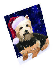 Christmas Holiday Australian Terriers Dog Tempered Cutting Board Large DB624