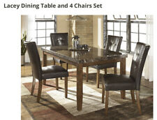 Ashley Lacey Furniture Dining Table and 4 Chair Set
