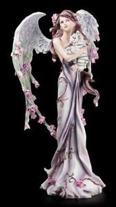 Schutz Engel Figur - Cathetel mit Tiger - Fantasy Elfe Engel Cherubim Deko