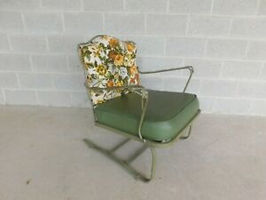 Vintage Russell Woodard Wrought Iron Bounce Club Chair