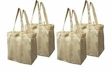 fc3f4857489 Earthwise Cotton Canvas Reusable Shopping Grocery Bag Tote (4 Pack)