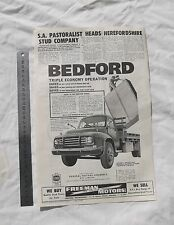 Bedford Truck Large Advertisement from a 1962 Australian Journal