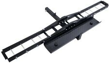 Steel Motorcycle Scooter Dirt Bike Carrier Hauler Hitch Mount Rack Ramp No Tilt