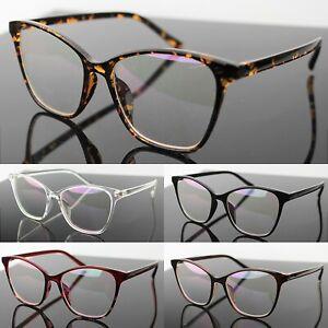 Cat Eye Clear Lens Glasses Women's Men's Fashion Eyewear  Vintage Retro