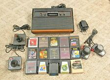 ATARI 2600 CONSOLE BUNDLE WITH 2 CONTROLLERS, 15 GAMES TESTED WITH FREE SHIPPING