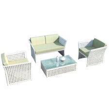 Meubles de jardin et terrasse blancs en aluminium