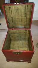 chinese style influenced wooden box with stand
