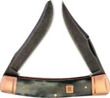 Rough Rider Moose Copper Pocket Knife Stainless Steel Blade Black Bone Handle