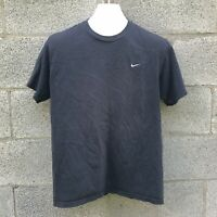 Vintage 90s Y2K Nike Swoosh Embroidered Black T Shirt M Medium Travis Scott Tee