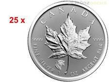 25 x 5 $ Dollar Maple Leaf Privy Mark Cougar Kanada 2017 25 x 1 oz Silber Tube