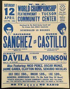 SALVADOR SANCHEZ-RUBEN CASTILLO ON SITE BROADSIDE POSTER (1980)