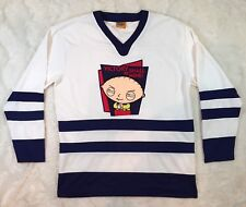 FAMILY GUY STEWIE Mens V-Neck Hockey Jersey Victory Shall Be Mine Size Small Fox