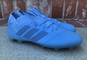 Adidas Nemeziz Messi 18.1 FG Size 10.5 Mens Ash Blue Soccer Cleats DB2089