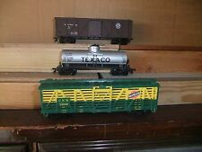 Life-Like US HO set of 3 Freight Cars, GN, NW, Texaco, in plastic tray
