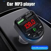 Transmetteur FM sans fil Bluetooth 5.0 pour voiture Lecteur MP3 2 Kit mains l LB