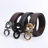 Men's Luxury Leather Buckle Belt Fashion Men Leather Belt