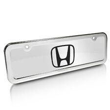 Honda Logo Half-size Chrome Metal License Plate