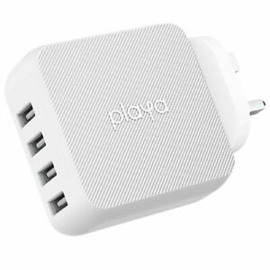 Playa by Belkin 40W Multi-Port USB-A Wall Charger - White
