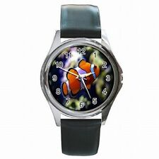 Clown Fish Aquarium Nemo Leather Watch New!