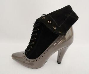 Marc by Marc Jacobs Leather Fold Over Ankle Boots UK3 36 RRP375GBP Heels Shoes