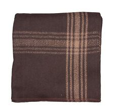 Camel-striped 55% Wool Blanket - Brown by Fox Outdoor Replica of NATO Military