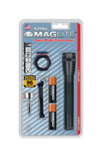 Maglite  Mini  14 lumens Flashlight Combo Kit  Incandescent  AA  Black