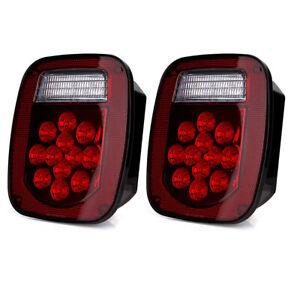 Pair of Stop Tail Lights Brake Lamp Turn Reverse Signal Brake Lights for Jeep