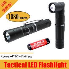 KLARUS AR10 USB Rechargeable Flashlight CREE XM-L2 U2 LED 1080 Lumens w/ Battery