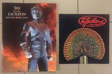 2 Programmes Livres Michael Jackson Collector Rare History Destiny Book Program