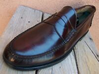 JOHNSTON MURPHY Mens Dress Shoes Burgundy Leather Casual Penny Loafers Size 12A